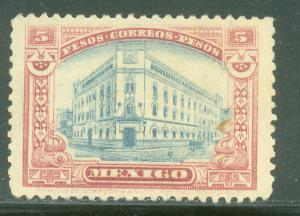 MEXICO 514, $5P Mexico City Main Post Office. Unused. H OG. F.