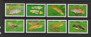 FISH - SIERRA LEONE #1355-62  MNH