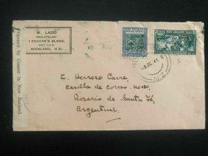 1941 Rocky Bay New Zealand Censored cover to Rosario Argentina