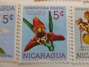 Nicaragua 1962 Orchids 5c fine mng postal tax stamp A11P11F96