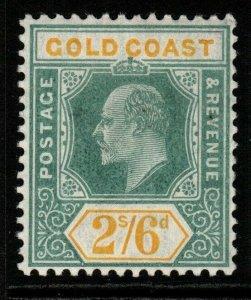 GOLD COAST SG57 1906 2/6 GREEN & YELLOW MTD MINT