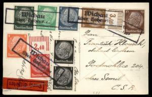 3rd Reich Sudetenland 1938 Wichau Express Card CSR 90672