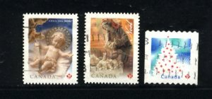 Canada #2242, 2345, 2344  -1  used  VF  PD