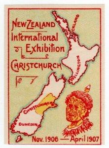 (I.B) New Zealand Cinderella : International Exhibition (Christchurch 1906)