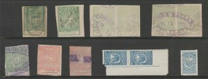 Dominican Republic revenue fiscal stamp 8-26-21 - mix lot - used- D