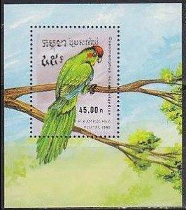 1989 Cambodge(Kampuchea) 1023/B164 Parrots 7,50 €