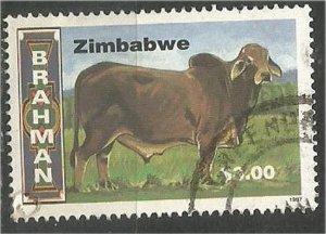 ZIMBABWE, 1997, used $3  Cattle Scott 773