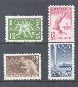 Finland Sc B110-13 1951-2 Helsinki Olympics stamp set mint NH