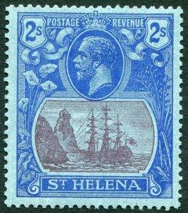 ST HELENA-1927 2/- Purple & Blue/Blue Sg 108 MOUNTED MINT V33842