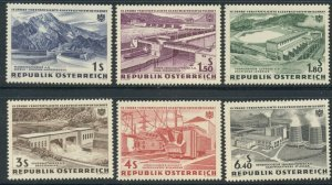 AUSTRIA: 1961 Mint Never Hinged - Sc 676-681; Electric Power