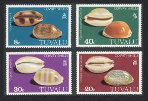 Tuvalu MNH 139-42 Cowrie Shells