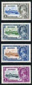Mauritius SG245/8 1935 Silver Jubilee M/M