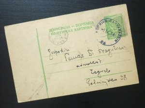 Yugoslavia 1958 Serbia Stationery - Railway TPO VIROVITICA - VARAZDIN  C19