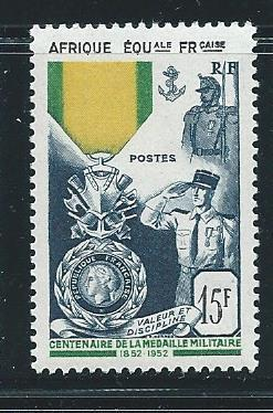 French Equatorial Africa 186 Military Medal single MNH
