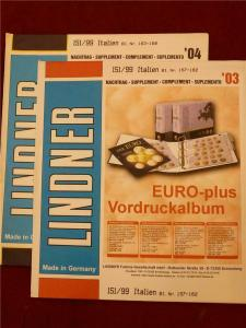 Italy Hingeless Album Pages Leuchtturm Stamp Collecting 2003-2004