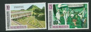 MAURITIUS SG435/6 1971 3rd COMMONWEALTH MEDICAL CONFERENCE MNH