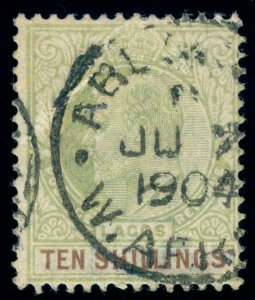 MOMEN: LAGOS SG #53 1904 CROWN CA USED SIGNED LOT #60101
