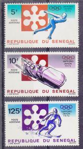 Senegal 1972 Sapporo Olympics (Scott# C107-09) MNH