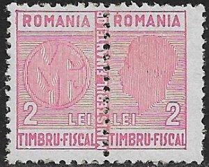 ROMANIA 1945 2L+2L King Michael GENERAL REVENUE  BFT.245 MLH