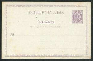 ICELAND early 8ore postcard unused.........................................66417