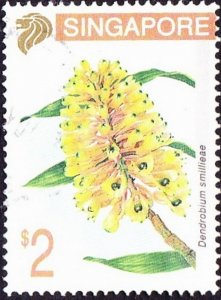 SINGAPORE 1994 QEII $2 Multicoloured 'Orchids' SG757 FU