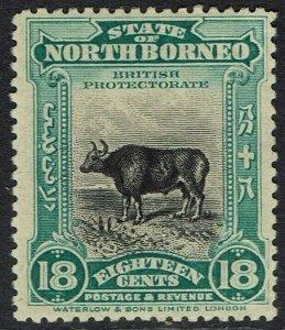 NORTH BORNEO 1909 PICTORIAL 18C PERF 13.5 - 14