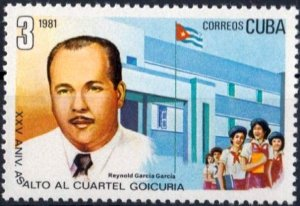 CUBA Sc# 2409  ATTACK ON GOICURA BARRACKS revolution   1981  Mint Never Hinged