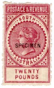 (I.B) Australia Postal : South Australia £20 (SG 208)