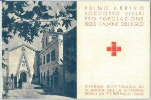 71332 - RHODES Rodi EGEO - POSTAL HISTORY - FDC Cover in folder 1945 - RED CROSS