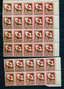 France Red Cross De Secourisme Poster Labels MNH 30 Stamp Folded. (NT 8783