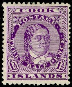 COOK ISLANDS SG43, 1½d deep mauve, M MINT. Cat £20.