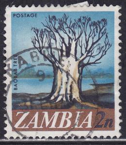 Zambia 40 USED 1968 Baobab Tree