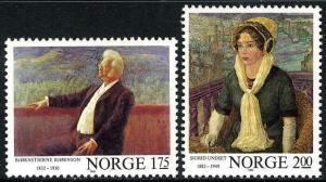 Norway 810-811, MNH. Paintings by A.C.Svarstad, Erik Werenskiold, 1982