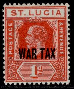 ST. LUCIA GV SG90, 1d scarlet, M MINT.