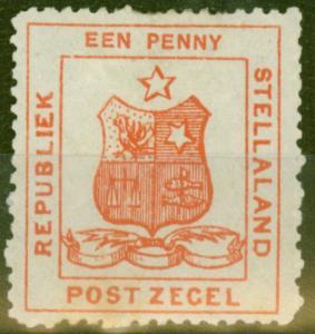 Stellaland 1884 1d Red SG1 Fine Mtd Mint
