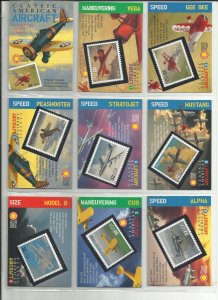 3142a-3142t  Twenty 32c Classic American Aircraft Stampers Cards MNH
