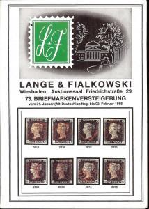 Lange & Fialkowski: Sale # 73  -  73. Briefmarkenversteig...