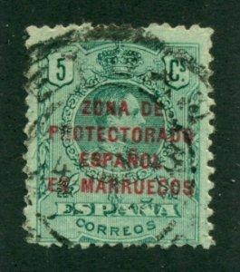 Spanish Morocco 1916 #54 U SCV(2020)=$0.25
