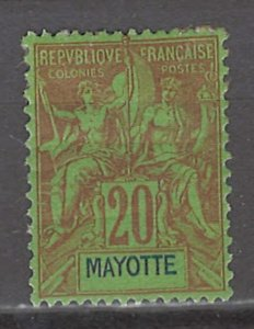 COLLECTION LOT # 3005 MAYOTTE #9 MH 1892 CV=$13.50