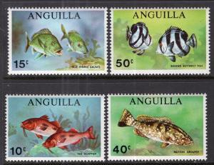 Anguilla 83-86 Fish MNH VF