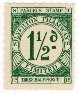 (I.B) Australia - NSW Silverton Tramways : Parcel Stamp 1½d