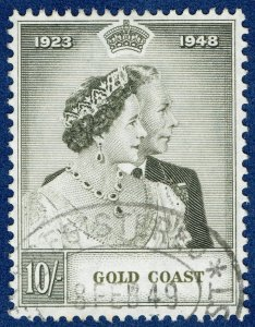 [sto728] GOLD COAST KGVI SG.148 10s Silver Wedding 1948 Used ROYALTY Cat £55