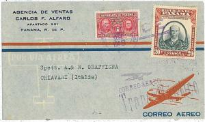 AVIATION \ MEDICINE : CANCER -  POSTAL HISTORY COVER : PANAMA 1948