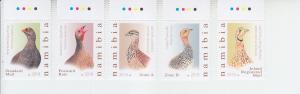 2018 Namibia Birds (5) (Scott 1370-74) MNH