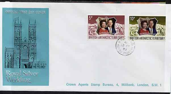 British Antarctic Territory 1972 Royal Silver Wedding set...