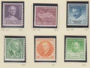 U.S. Canal Zone Scott #153-154-155-160-161-162 Possession Stamp - Mint Set