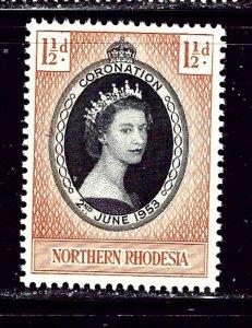 Northern Rhodesia 60 MH 1953 QEII Coronation