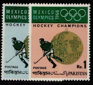 PAKISTAN QEII SG272-273, 1969 Olympic Hockey Championships set, NH MINT.