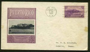 801 PUERTO RICO FDC SAN JUAN, PR IOOR CACHET PLANTY 801-45a