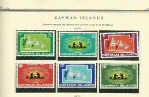 CAYMAN ISLANDS 1970 SCOTT 277-82 MNH
